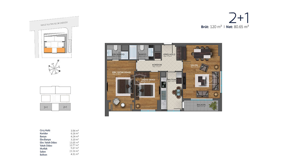 شقق سكنية للبيع في باسن اكسبريس اسطنبول T-215