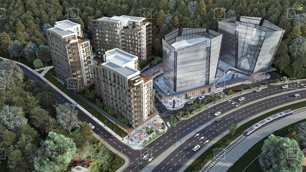 شقق سكنية بإطلالة الغابات في مسلك اسطنبول   T-214