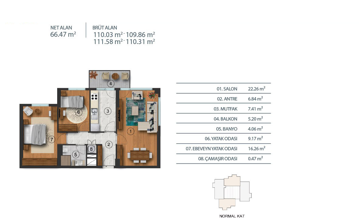 شقق سكنية فاخرة للبيع في هالكالي اسطنبول T-222
