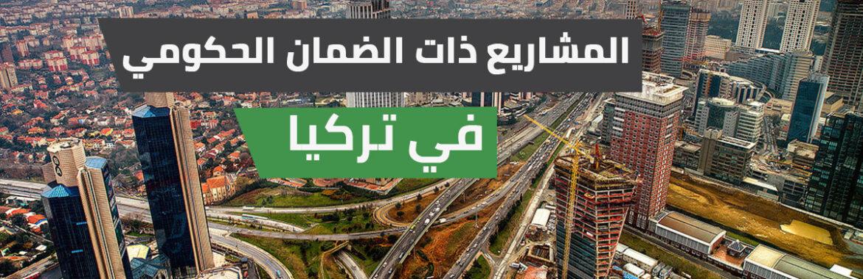 المشاريع ذات الضمان الحكومي ومشاريع القطاع الخاص في تركيا